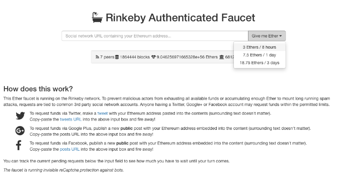 Rinkeby Faucet